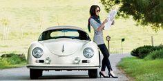 Girl with Porsche