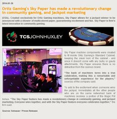 ORTIZ IN THE NEWS - Ortiz Gaming's Sky Paper is highlighted in the January online issue of Soloazar