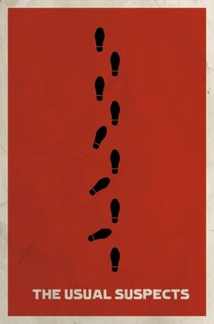 A minimalistic poster for The Usual Suspects.  This guy has done an amazing job. Any fan would recognize the movie from this poster.