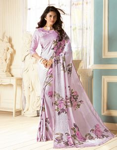 Pink Saree, Fancy Fabric Saree, Buy latest Saree with custom stitching and worldwide shipping. Designer Sarees Collection, Latest Designer Sarees, Latest Sarees, Saree Collection, Indian Bridal Lehenga, Indian Beauty Saree, Designer Wear, Designer Dresses, Pink Saree