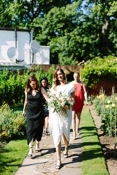 The Bride Wore Roland Mouret at Her Wedding in the English Countryside - Over The Moon Bridal Hair And Makeup, Wedding Makeup, Hair Makeup, Out To Lunch, Over The Moon, English Countryside, Bridesmaid Dresses, Wedding Dresses, Roland Mouret