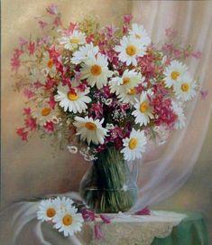 Arte, pintura, oleo, acuarela, escultura Flower Vases, Flower Art, Flower Arrangements, Cherry Blossom Art, Happy Birthday Flower, Window Box Flowers, Painted Cottage, Arte Floral, Watercolor Flowers