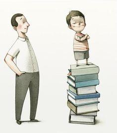 Fomentando la lectura en familia (ilustración de Fran Parreño)