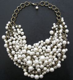 Looks exactly like my pearl wedding necklace except it is a bit more rough/hardcore as opposed to bridal beauty.