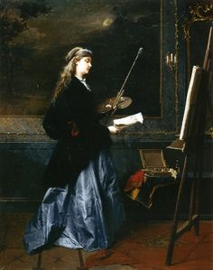 La Pittrice - Domenico Induno - 1864