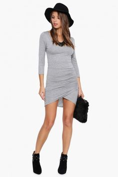 Rouge Dress in Heather grey | Necessary Clothing