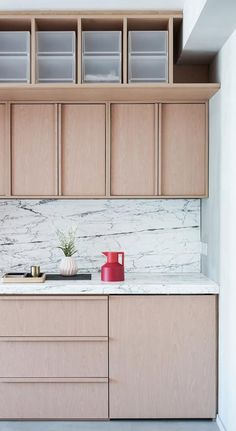 plywood kitchen blonde high storage deep