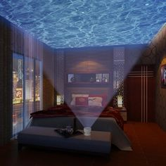 Dive into bed under the projected glow of the ocean. | 25 Gifts For People Obsessed With The Ocean