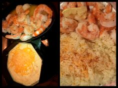Hubby wanted cheesy grits and shrimp and I wanted something similar that was on plan. I used cauliflower & Fit & Active cheese for my masterpiece.