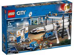 LEGO City Space Rocket Assembly & Transport 60229 Model Rocket Building Set with Toy Crane Lego Store, Legos, Lego City Space, Toy Crane, Figurine Lego, Van Lego, Talkie Walkie, Lego City Police, Lego City
