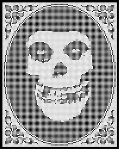 Misfits (Filet Crochet imitación) cruz puntada patrón instantánea descargar