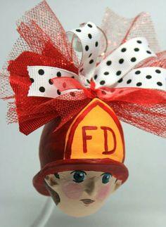#CreativePaperClay Clay ornaments Hat Series - Fireman