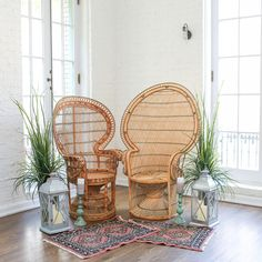 Currently crushing on all weddings featuring these rattan peacock chairs! How about you? Unique Wedding Invitations, Wedding Stationery, Rattan Peacock Chair, Save The Date Magnets, Unique Weddings, Wedding Decorations, Chairs, Color, Ideas