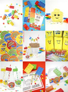 Printable Lego Party Decorations!!
