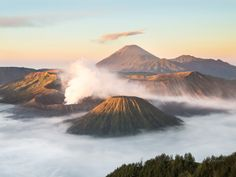 MOUNT BROMO, INDONESIA  Mount Bromo, the only active volcano on the island of Java, is known for its unparalleled views of the sunrise.