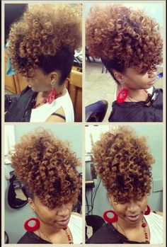 Spiral curl updo on natural hair #curlyhair #natural  Instagram: @hairbyannastacia