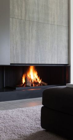 Fireplace by Metalfire Home Fireplace, Modern Fireplace, Fireplace Design, Fireplaces, Architecture Details, Interior Architecture, Interior And Exterior, Room Paint Colors, Paint Colors For Living Room