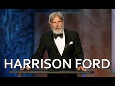 Harrison Ford salutes John Williams - YouTube