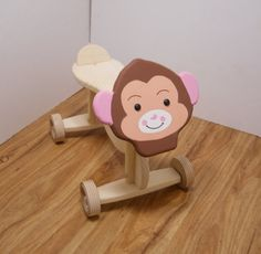 Toddler ride on toy. Monkey. Hand crafted finished by SmittysShop