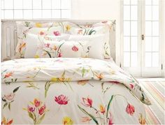 watercolor floral bed pineconehill.. beautiful