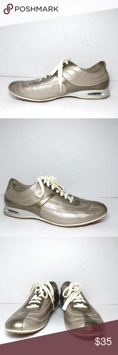 353bd3ab4f41 Cole Hann Nike Air Gold leather Sneakers Size 9B Cole Hann Nike Air  Sneakers Trimmed in