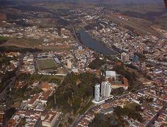 Bragança Paulista, São Paulo SP Brazil. Aerial view.