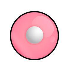 Hot Pink - pinke Kontaktlinse von Lensspirit #contacts #contactlenses