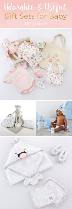 Baby Aspen has the all answersand the best gift sets to get for mom and baby that mom can actually use now and as baby grows older. Diy Baby Gifts, Baby Gift Sets, Baby Crafts, Baby Shower Favors, Baby Shower Invitations, Baby Shower Gifts, Cowgirl Baby Showers, Baby Aspen, Baby Bath Time