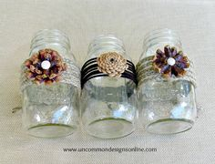 mason jar christmas crafts | Pine-cone-mason-jar-flowers-wm.jpg | Holiday Crafts