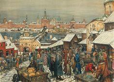 """Novgorod Marketplace"" by Appolinary Vasnetsov"