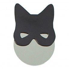 Miroir chat noir