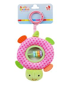 This Pink Turtle Rattle is perfect! #zulilyfinds