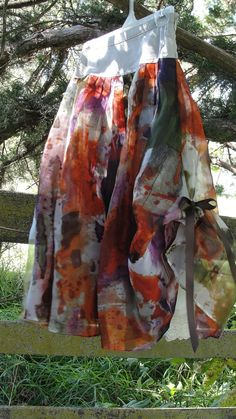 Boho chic Skirt in fall colors with upcycled by SummersBreeze