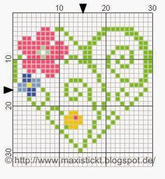 This Pin was discovered by Lat Tiny Cross Stitch, Cross Stitch Heart, Cross Stitch Cards, Cross Stitch Borders, Cross Stitch Alphabet, Cross Stitch Flowers, Cross Stitch Designs, Cross Stitching, Cross Stitch Embroidery