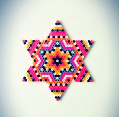 Star hama perler bead design by sara seir: