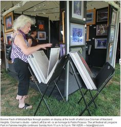 Midwest Salute to the Arts, Fairview Heights, Illinois.  2012.  Article in the Belleville paper.  However, my inspiration for Left Ear Art is obviously VAN GOGH and not Picasso.