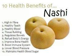 10 Health Benefits of Nashi. Fruit Benefits, Matcha Benefits, Coconut Health Benefits, Health And Nutrition, Health And Wellness, Health Tips, Nutrition Tracker, Sports Nutrition, Health Care