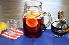 Sangria 1 cup @ChambordUS  Liqueur 1 bottle Red Wine 1 pint Raspberries 1 small Lemon, sliced 1 small Orange, sliced 1⁄4 cup Brown Sugar Mix all ingredients in a large pitcher. Cover and refrigerate overnight or for at least four hours. Serve on the rocks. Makes 6-8 servings
