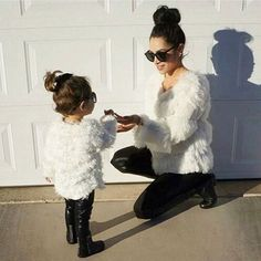 Mommy & Daughter Outfits Mother Daughter Fashion, Mother Daughter Matching Outfits, Mommy And Me Outfits, Family Outfits, Kids Outfits, Fashion Kids, Pyjamas Assortis, Future Daughter, Mother Daughters