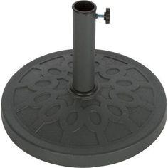 Trademark Innovations Decorative Resin Umbrella Base 17 5 Inch Diameter Gray