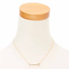 """<P>Follow the arrow, wherever that may be, with this gold toned arrow necklace. The arrow pendant necklace will always point you in the right direction. </P><UL><LI>16""""+3"""" <LI>40cm+7.6cm <LI>Lobster clasp </LI></UL>"""