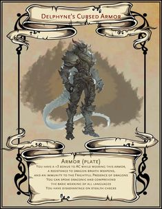 Dnd Dragons, Dungeons And Dragons Homebrew, Dungeons And Dragons Characters, D&d Dungeons And Dragons, Dnd Characters, Fantasy Characters, Dark Dungeons, Fantasy Armor, Fantasy Weapons