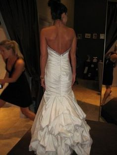 Trumpet dress with french bustle