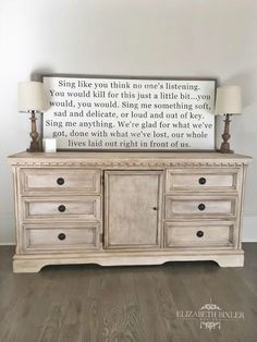 How to Chalk Paint a Dresser using Annie Sloan Wax and DixieBelle chalk paint, we transformed this dated dresser into a beautiful french country classic.