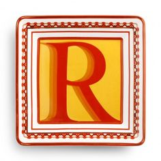Monogram Decorative Plate -