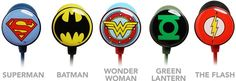 Superhero Earbuds - getting him the green lantern ones:)