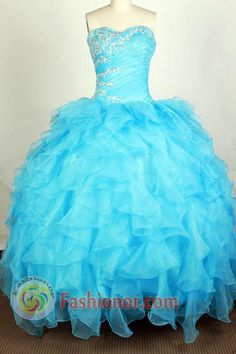 beautiful+dresses+turquoise | Beautiful Ball Gown Sweetheart Floor-length Aqua Quinceanera Dress ...