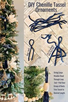 Geneseo Giving Trees window with a pencil tree, faux fireplace, set of wreaths, and swag. Diy Tassel, Tassels, Pencil Trees, Loop Knot, Make Your Own, Make It Yourself, Faux Fireplace, Marriage And Family, Velvet Ribbon