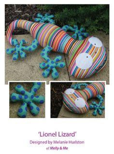 Lionel Lizzard Pattern by braidcraft on Etsy, $13.50
