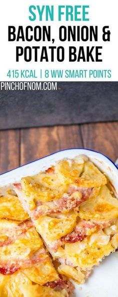 syn free bacon onion and potato bake pinch of nom slimming world recipes 415